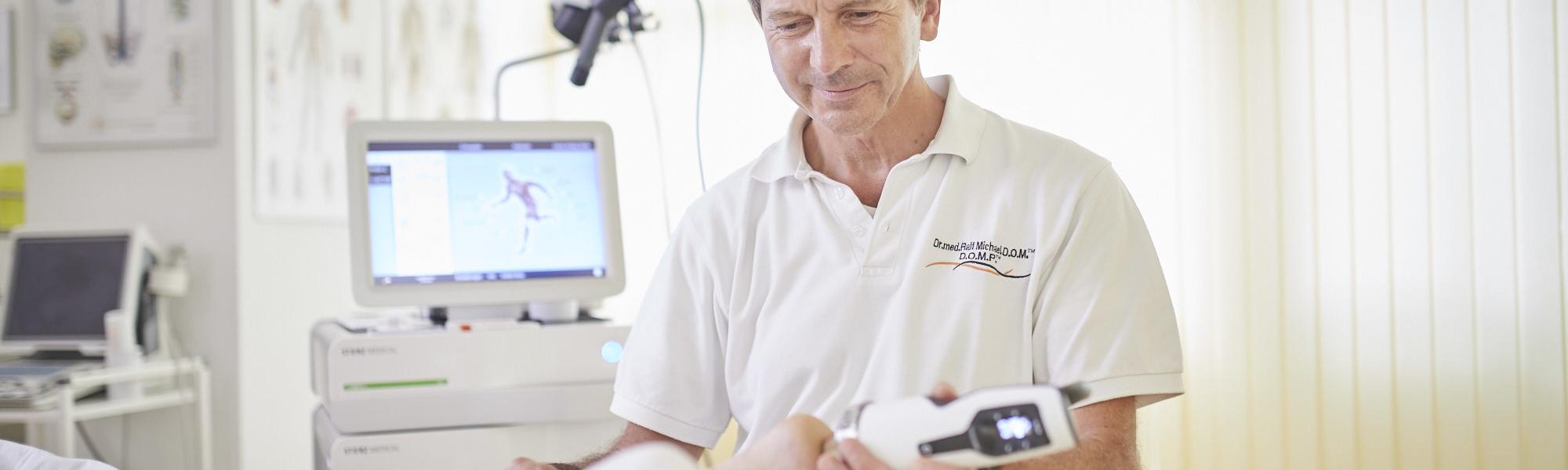 Beispiel für Stoßwellentherapie in Karlsruhe
